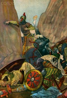 Roland near death after the Battle of Roncevaux Pass