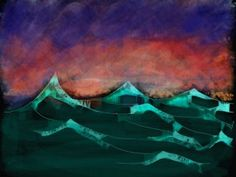 Sketch of the Day Simple Waves by Wen of Zen Zen, Sketch, Waves, Abstract, Simple, Drawings, Artwork, Painting, Beautiful