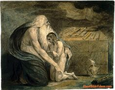 Passion Sunday | 2015 | Catholic Mass Readings | Abraham Preparing to Sacrifice Isaac (William Blake, 1783, Museum of Fine Arts, Boston) | Jn 8:56 | Abraham your father rejoiced to see my day; he saw it and was glad.