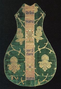 15th Century German - Chasuble Front with an Orphrey Band