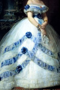 warpaintpeggy:  INCREDIBLE DRESSES IN ART (35/∞)Isabel Álvarez Montes by Federico de Madrazo, 1868