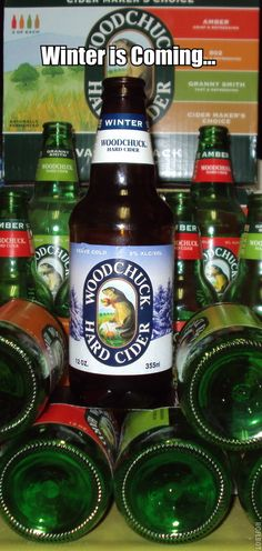 """@Woodchuck Cider Winter is one of my favorites. I know it's the end of the Winter season, but I have been watching a lot of Game of Thrones and reading so much of the """"A Song of Ice and Fire"""" books that I had to make this vision. #Woodchuck_Cider #Woodchuck"""