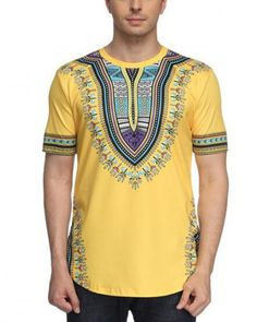 Casual Short Sleeve Graphic Tee Shirts,Funky African Traditional Fashion Personality Customization