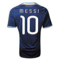 2011 Argentina #10 Messi Replica Away Soccer Jersey Shirt