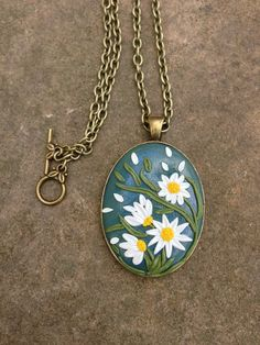 Spring Polymer Flower Pendant by ArtfulParadox on Etsy, $25.00