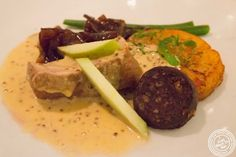 image of Ayrshire pork and Stornoway black pudding at Incognito Bistro in NYC, New York