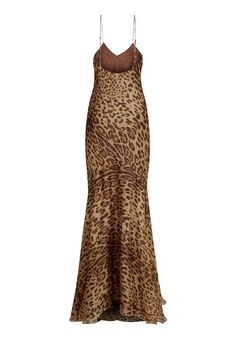 Magdalena Dress - Leopard silk dress with fanned hemline – Rat  Boa USA