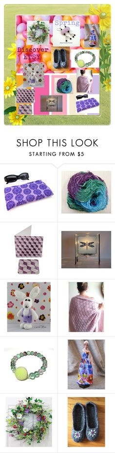"""Spring Shopping on Etsy"" by glowblocks ❤ liked on Polyvore featuring Hostess and 5foot1"