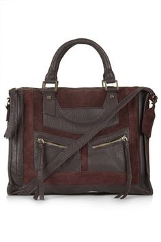 suede + leather satchel