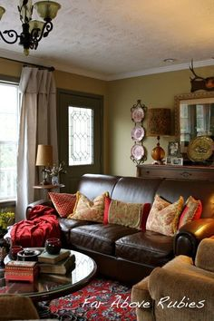 Great way to create an entry when front door opens directly into living room!