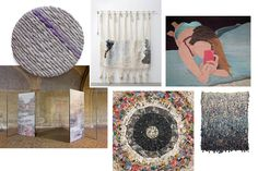 Clockwise from top left: A selection of fiber-based works by artists Sheila Hicks and Ann...