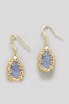 Maya Earrings in Blue Agate