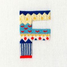 當手工刺繡遇到字體設計和插畫