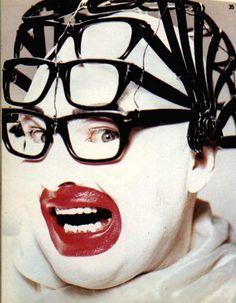 Leigh Bowery / arte, maquillaje, lentes, gafas, transformismo