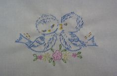 shabby chic machine embroidery designs | designs were from old patterns found on flickr and free
