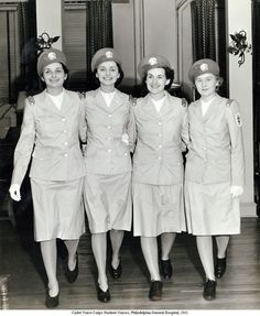 Women in WWII ~ Cadet Nurse Corps Student Nurses Philadelphia General Hospital ~