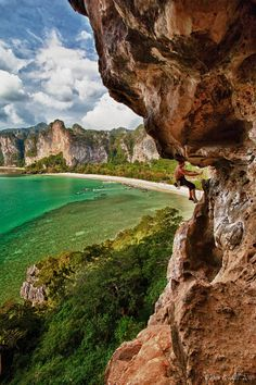 Railay Bay, Krabi, Thailand.I want to go see this place one day.Please check out my website thanks. www.photopix.co.nz