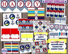 70 OFF Ahoy Birthday boy Instant Download by EasyPartyPrintables,