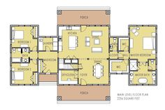 Part of this house: Unique Home Plan with Main Floor Master - Pine Creek Cottage Cottage House Plans, Dream House Plans, Small House Plans, Cottage Homes, House Floor Plans, My Dream Home, Dream Houses, H Design, House Design