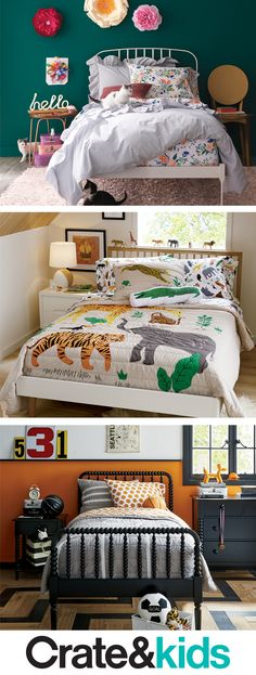 Tuck your kids into the bedding of their dreams. We've got artist-design styles, imaginative prints and playful patterns you won't find anywhere else.