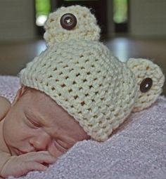 newborn boy teddy bear hat by SweetBabiesinYarn on Etsy, $15.00