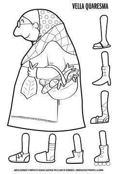 Vella Quaresma x pintar i muntar Crafts For Kids, Arts And Crafts, Religion Catolica, Seasonal Celebration, Baba Yaga, Winter Kids, School Organization, Conte, Nursery Rhymes