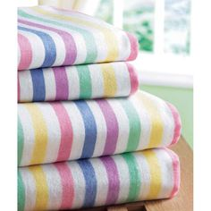 CANDY STRIPE FLANNELETTE SHEET SET - Great cheap way to buy flannelette for quilting projects