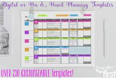 100s of COMPLETELY EDITABLE planner templates and EXTRAS. An entire year's plans in ONE file. EASY to USE. Simplify your teacher life! DIGITAL teacher planner. MORE than just a template. It's a plan book system. ALL plans for the year in a digital printable notebook. Accessible on all devices. Printable in various sizes. Couldn't imagine teaching without this FOREVER planner.   #Teacherplanner #planbook #planning