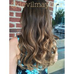 Low maintenance balayage. This picture was taken six months out from her last color service!