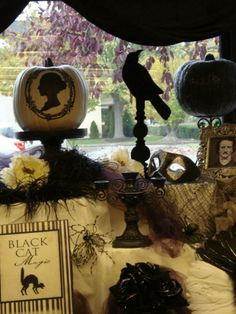 Edgar Allen Poe display in the J room! — at Carnegie Public Library, Washington Court House. Love this.