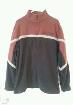NWT Harley Davidson Size L Zip Front Color Block Fleece Jacket Maroon Black $75 #HarleyDavidson #FleeceJacket