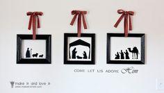 Vinyl Christmas Nativity