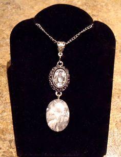 Grey Semi-Precious Stone Pendant Necklace by EternalCharmJewelry