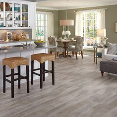 Luxury Vinyl Wide Plank Seaport in Surf
