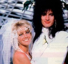 Heather Locklear and Tommy Lee. .