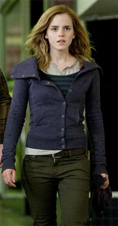 I'm in love with Hermione's wardrobe in the Deathly Hallows movies. I wish I could have it.