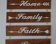 Your choice and all four or single inspirational words. Engraved on Pallet Bd.