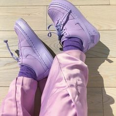 Purple Sneakers Are The Sneakerhead Color You Need Now - While neutral kicks have taken over the last few years, a new dope and chill color is about to be the next big thing when it comes to sneakers. We're talking about purple sneakers. While red … Aesthetic Shoes, Purple Aesthetic, Aesthetic Clothes, Lavender Aesthetic, Aesthetic Outfit, Urban Aesthetic, Purple Sneakers, Purple Shoes, Purple Trainers