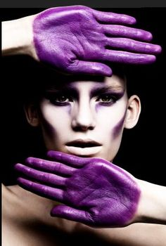 purple splash. hands ~ color ~ bright & beautiful.