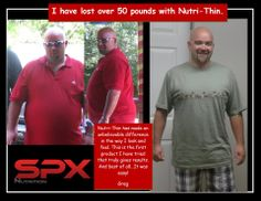 I have lost over 50 pounds with Nutri-Thin   www.spxnutri-tion.com