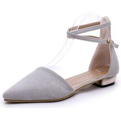 Xemonale 2017 Hot Women Ballet Flats Solid Plain Ankle Strap BuckleFlat Shoes Woman Summer Pointed Toe Casual Shoes Size 35-39 X Aliexpress 22.00