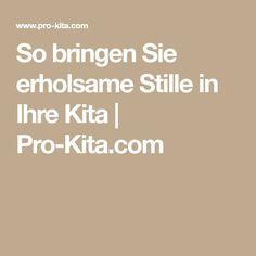 So bringen Sie erholsame Stille in Ihre Kita | Pro-Kita.com