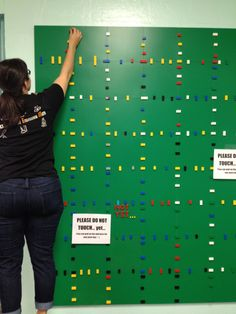 LEGO wall for a makerspace! Awesome!!!