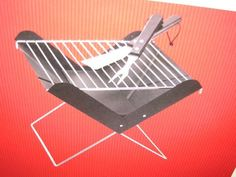"""BBQ Grill Portable """" Pop Up"""" and Tool Set by Target. $24.99. Sets up in seconds.. Folding Compact Grill. Complete with Fork, Spatula and carry case. PERFECT FOR : Park, Beach, or Tailgate Parties.. 1 Set (13 In h X 13 In W X 11 1/2 """" D) (33cm X 33cm X 29.2 cm)"""