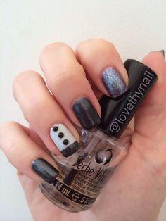 Grey themed nail art. Grey Nail Art, Gray Nails, Rings For Men, Nail Polish, Beauty, Jewelry, Gray Nail Art, Men Rings, Jewlery