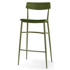 Beaufurn Lotus P Barstool The unique combination of metal frame, upholstered seat and wood back panel, make the Lotus stand out from the crowd. Available in a side chair, barstool and backless barstool with a durable powdercoat frame that is available in chrome, black, white, green and light blue.  Suitable for restaurants, hotels and universities.