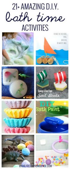 21+ Amazing DIY bath time activities! These are all so fun, cheap, and unique!