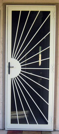 Security Screen Doors : Great Gates and Whiting Iron in Phoenix AZ Grill Gate Design, Iron Gate Design, Window Grill Design, Gate Designs Modern, Door Grill, Steel Security Doors, Iron Windows, Door Design Interior, Wrought Iron Doors