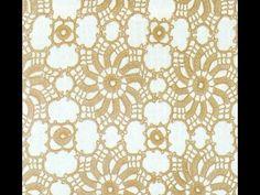 Patrón Para Tejer Cortina/Mantel Con Girándulas a Crochet - YouTube