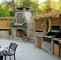 Outside Patio Kitchen - 21 Best Outdoor Kitchen Ideas And Designs Pictures Of Beautiful 21 Insanely Clever Design Ideas For Your Outdoor Kitchen Cheap Outdoor Kitchen Ideas H. Modular Outdoor Kitchens, Outdoor Kitchen Plans, Backyard Kitchen, Outdoor Kitchen Design, Farmhouse Kitchen Decor, Patio Design, Grill Design, Outdoor Cooking, Nutrition Education